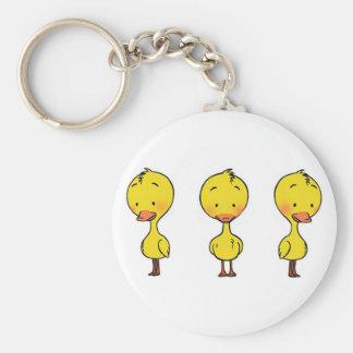 Yellow duck key chain