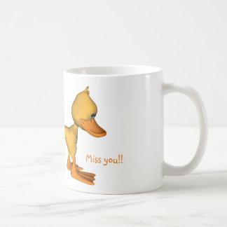 Yellow duck miss you coffee mug