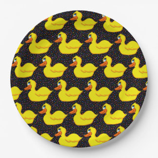 Yellow Duck Paper Plates