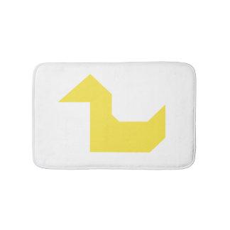 Yellow duck Tangram Bath Mat