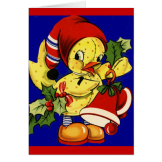 Yellow Ducky Christmas Card