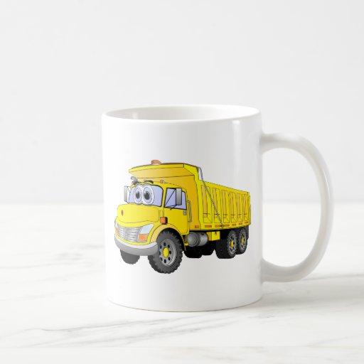 Yellow Dump Truck Cartoon Coffee Mugs