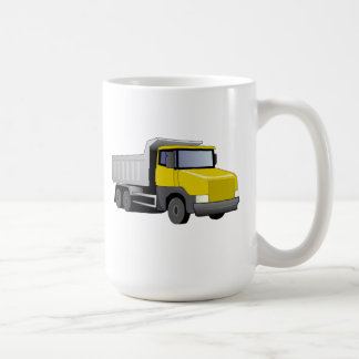 Yellow Dump Truck Coffee Mugs