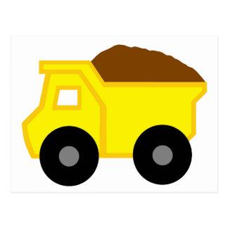 Yellow Dump Truck Postcards