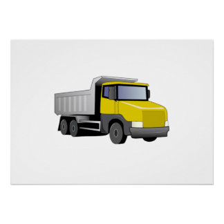 Yellow Dump Truck Print