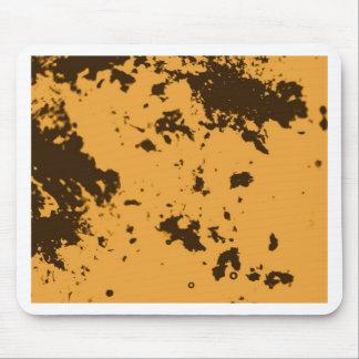 Yellow Duotone Pattern Mouse Pad