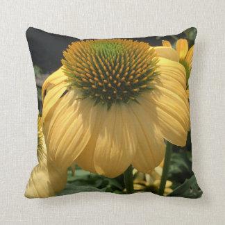 Yellow Echinacea Cushion