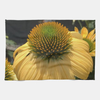 Yellow Echinacea Tea Towel