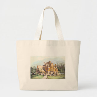 Yellow Elaborate Victorian Style Homes Canvas Bags