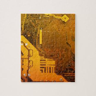 yellow electronic circuit board.JPG Jigsaw Puzzle