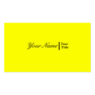 Yellow Elégant Professionnel Pack Of Standard Business Cards