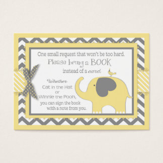 Yellow Elephant Bird Bring a Book Card