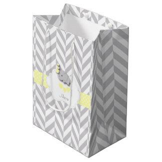 Yellow Elephant Design - Baby Shower Medium Gift Bag