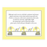 Yellow Elephants Insert for Book Baby Shower