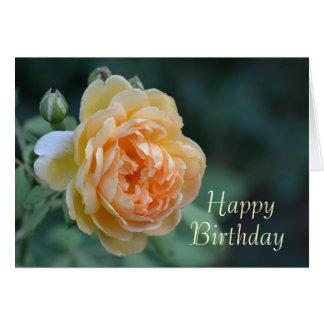 Yellow English Roses. Greeting Card