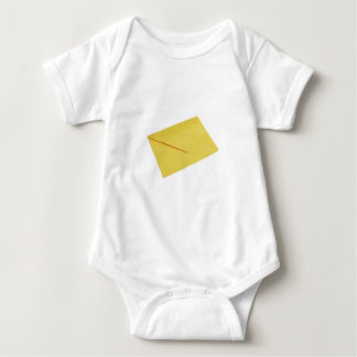 Yellow envelope isolated on white baby bodysuit
