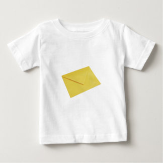 Yellow envelope isolated on white baby T-Shirt