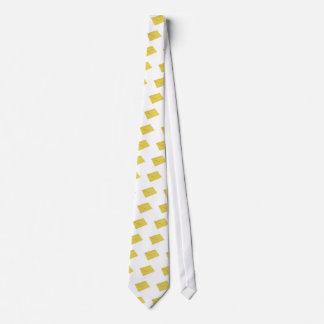 Yellow envelope isolated on white tie