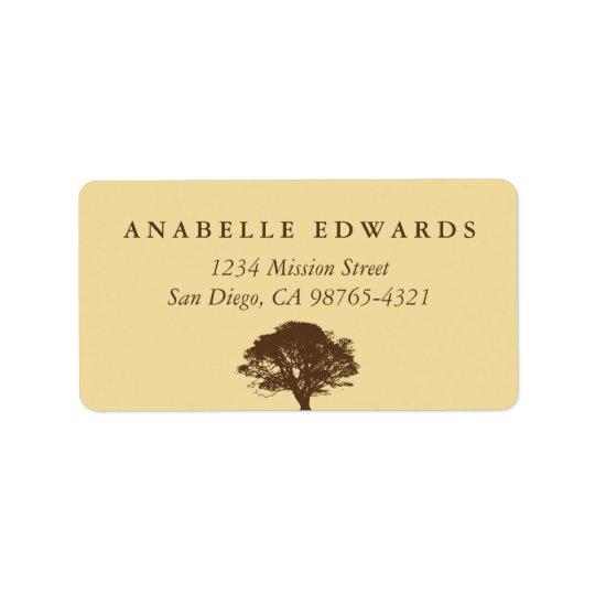 Yellow eternal oak tree envelope seal address