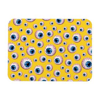 Yellow eyeball pattern rectangular magnet