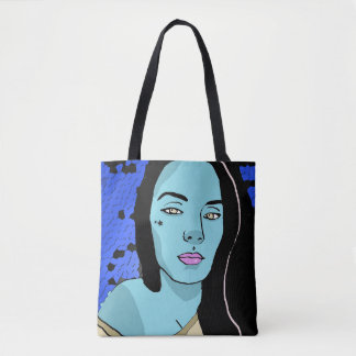 Yellow Eyed Girl Tote Bag