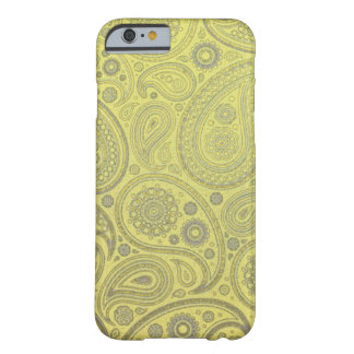 Yellow fabric paisley pattern barely there iPhone 6 case