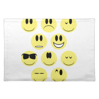 Yellow Face Icons Placemat