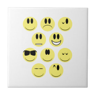 Yellow Face Icons Small Square Tile