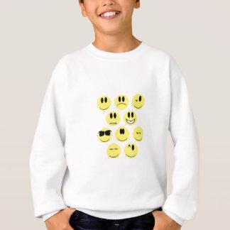 Yellow Face Icons Sweatshirt