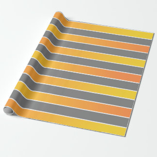 Yellow fading to orange with grey stripes wrapping