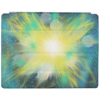Yellow Fantasy Space Star Art Painting Design iPad Cover