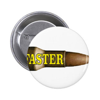 yellow fast bullet 6 cm round badge