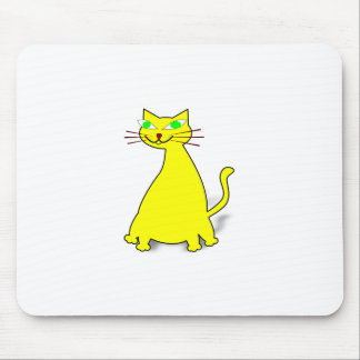 Yellow Fat Cat Mouse Pad