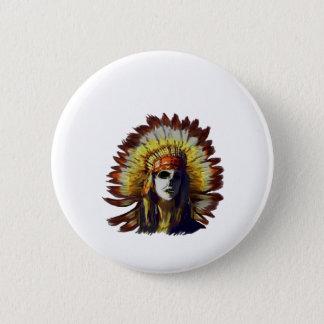 Yellow Feather 6 Cm Round Badge