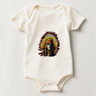 Yellow Feather Baby Bodysuit