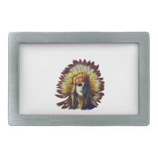 Yellow Feather Belt Buckle