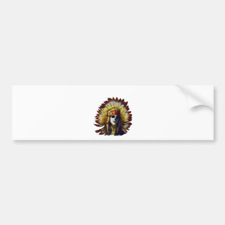 Yellow Feather Bumper Sticker