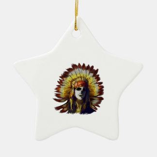 Yellow Feather Ceramic Ornament