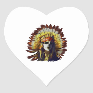 Yellow Feather Heart Sticker