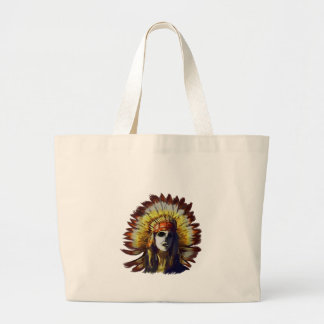Yellow Feather Large Tote Bag