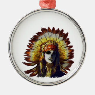 Yellow Feather Metal Ornament
