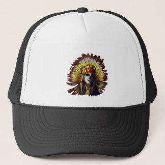 Yellow Feather Trucker Hat