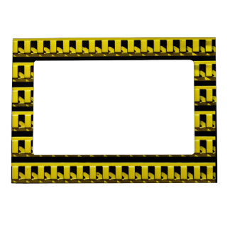 Yellow Fence Magnetic Picture Frame