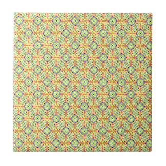 Yellow Festival Pattern Ceramic Tile