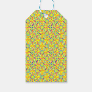 Yellow Festival Pattern Gift Tags