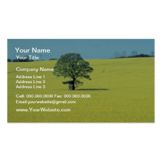 yellow Field of rape in flower flowers Business Card Templates