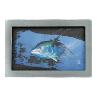 Yellow fin tuna belt buckle. rectangular belt buckles