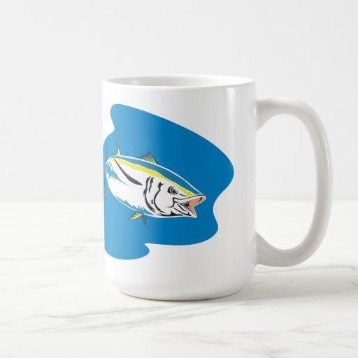 Yellow Fin Tuna Fish Retro Mug