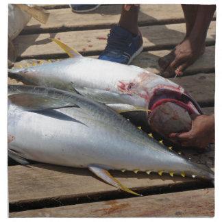 yellow fins tuna napkin