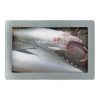 yellow fins tuna rectangular belt buckle